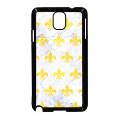 Royal1 White Marble & Yellow Colored Pencil Samsung Galaxy Note 3 Neo Hardshell Case (black) by trendistuff