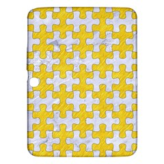 Puzzle1 White Marble & Yellow Colored Pencil Samsung Galaxy Tab 3 (10 1 ) P5200 Hardshell Case  by trendistuff