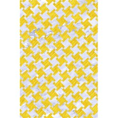 Houndstooth2 White Marble & Yellow Colored Pencil 5 5  X 8 5  Notebooks by trendistuff