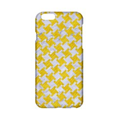 Houndstooth2 White Marble & Yellow Colored Pencil Apple Iphone 6/6s Hardshell Case by trendistuff