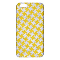 Houndstooth2 White Marble & Yellow Colored Pencil Iphone 6 Plus/6s Plus Tpu Case by trendistuff