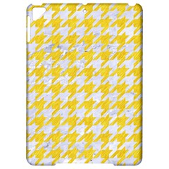 Houndstooth1 White Marble & Yellow Colored Pencil Apple Ipad Pro 9 7   Hardshell Case by trendistuff