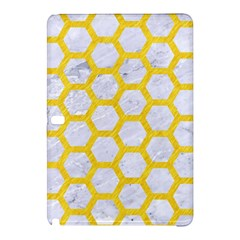 Hexagon2 White Marble & Yellow Colored Pencil (r) Samsung Galaxy Tab Pro 12 2 Hardshell Case by trendistuff