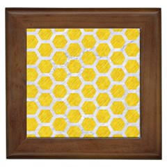 Hexagon2 White Marble & Yellow Colored Pencil Framed Tiles by trendistuff