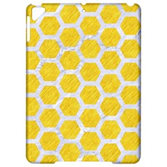 Hexagon2 White Marble & Yellow Colored Pencil Apple Ipad Pro 9 7   Hardshell Case by trendistuff