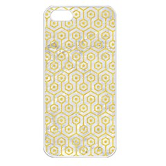 Hexagon1 White Marble & Yellow Colored Pencil (r) Apple Iphone 5 Seamless Case (white) by trendistuff