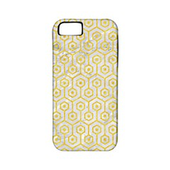 Hexagon1 White Marble & Yellow Colored Pencil (r) Apple Iphone 5 Classic Hardshell Case (pc+silicone) by trendistuff