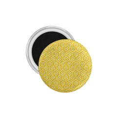 Hexagon1 White Marble & Yellow Colored Pencil 1 75  Magnets by trendistuff