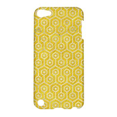 Hexagon1 White Marble & Yellow Colored Pencil Apple Ipod Touch 5 Hardshell Case by trendistuff
