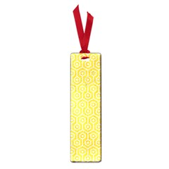 Hexagon1 White Marble & Yellow Colored Pencil Small Book Marks by trendistuff