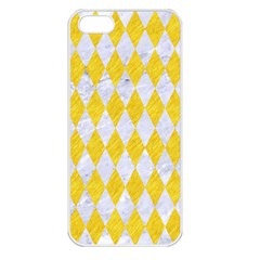 Diamond1 White Marble & Yellow Colored Pencil Apple Iphone 5 Seamless Case (white) by trendistuff