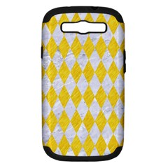 Diamond1 White Marble & Yellow Colored Pencil Samsung Galaxy S Iii Hardshell Case (pc+silicone) by trendistuff