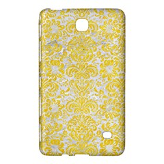 Damask2 White Marble & Yellow Colored Pencil (r) Samsung Galaxy Tab 4 (8 ) Hardshell Case  by trendistuff