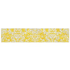 Damask2 White Marble & Yellow Colored Pencil Small Flano Scarf by trendistuff