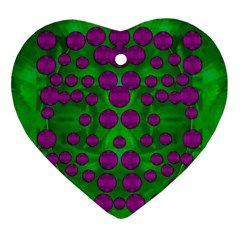 The Pixies Dance On Green In Peace Ornament (heart) by pepitasart