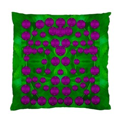 The Pixies Dance On Green In Peace Standard Cushion Case (one Side) by pepitasart