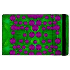 The Pixies Dance On Green In Peace Apple Ipad 3/4 Flip Case by pepitasart