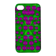 The Pixies Dance On Green In Peace Apple Iphone 4/4s Hardshell Case With Stand by pepitasart