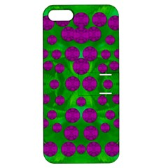 The Pixies Dance On Green In Peace Apple Iphone 5 Hardshell Case With Stand by pepitasart