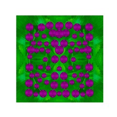 The Pixies Dance On Green In Peace Small Satin Scarf (square) by pepitasart