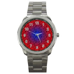 Red Music Blue Moon Sport Metal Watch by snowwhitegirl