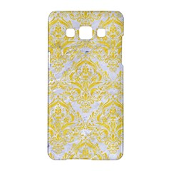 Damask1 White Marble & Yellow Colored Pencil (r) Samsung Galaxy A5 Hardshell Case  by trendistuff