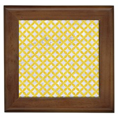 Circles3 White Marble & Yellow Colored Pencil (r) Framed Tiles by trendistuff