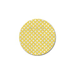 Circles3 White Marble & Yellow Colored Pencil (r) Golf Ball Marker by trendistuff