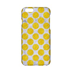 Circles2 White Marble & Yellow Colored Pencil (r) Apple Iphone 6/6s Hardshell Case by trendistuff
