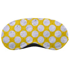Circles2 White Marble & Yellow Colored Pencil Sleeping Masks by trendistuff