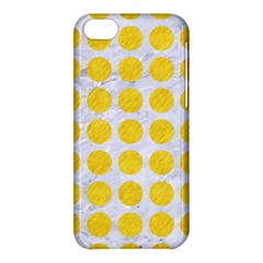 Circles1 White Marble & Yellow Colored Pencil (r) Apple Iphone 5c Hardshell Case by trendistuff