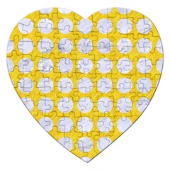 Circles1 White Marble & Yellow Colored Pencil Jigsaw Puzzle (heart)