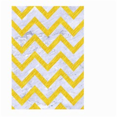 Chevron9 White Marble & Yellow Colored Pencil (r) Large Garden Flag (two Sides) by trendistuff