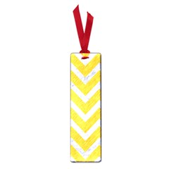 Chevron9 White Marble & Yellow Colored Pencilchevron9 White Marble & Yellow Colored Pencil Small Book Marks by trendistuff
