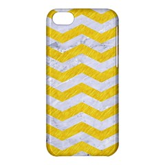 Chevron3 White Marble & Yellow Colored Pencil Apple Iphone 5c Hardshell Case by trendistuff