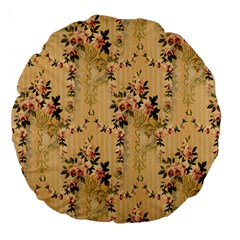 Vintage Floral Pattern Large 18  Premium Round Cushions by paulaoliveiradesign