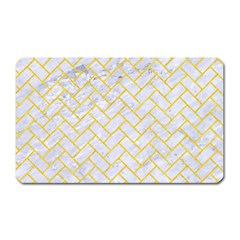 Brick2 White Marble & Yellow Colored Pencil (r) Magnet (rectangular) by trendistuff