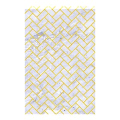 Brick2 White Marble & Yellow Colored Pencil (r) Shower Curtain 48  X 72  (small)  by trendistuff
