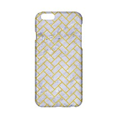 Brick2 White Marble & Yellow Colored Pencil (r) Apple Iphone 6/6s Hardshell Case by trendistuff