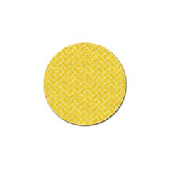 Brick2 White Marble & Yellow Colored Pencil Golf Ball Marker (4 Pack) by trendistuff