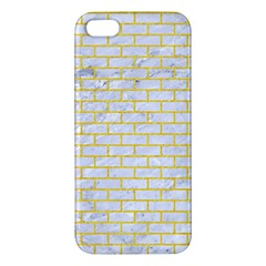 Brick1 White Marble & Yellow Colored Pencil (r) Iphone 5s/ Se Premium Hardshell Case by trendistuff