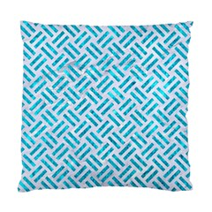 Woven2 White Marble & Turquoise Marble (r) Standard Cushion Case (two Sides)