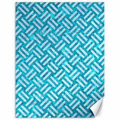 Woven2 White Marble & Turquoise Marble Canvas 18  X 24   by trendistuff
