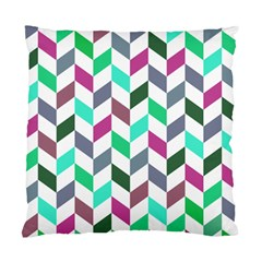 Zigzag Chevron Pattern Aqua Purple Standard Cushion Case (one Side) by snowwhitegirl
