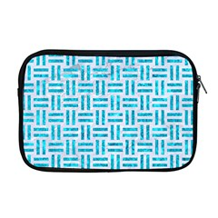 Woven1 White Marble & Turquoise Marble (r) Apple Macbook Pro 17  Zipper Case by trendistuff