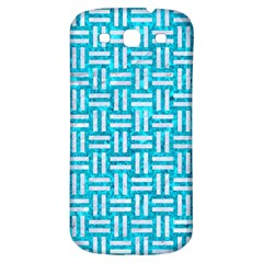 Woven1 White Marble & Turquoise Marble Samsung Galaxy S3 S Iii Classic Hardshell Back Case by trendistuff