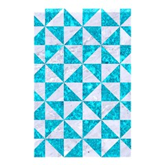 Triangle1 White Marble & Turquoise Marble Shower Curtain 48  X 72  (small)  by trendistuff