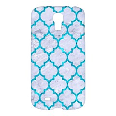 Tile1 White Marble & Turquoise Marble (r) Samsung Galaxy S4 I9500/i9505 Hardshell Case by trendistuff