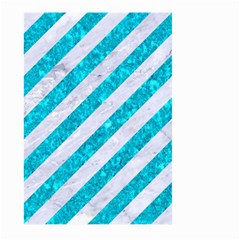 Stripes3 White Marble & Turquoise Marble (r) Large Garden Flag (two Sides) by trendistuff