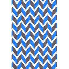 Zigzag Chevron Pattern Blue Grey 5 5  X 8 5  Notebooks by snowwhitegirl